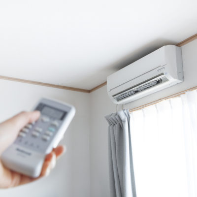 Montaje de aire acondicionado por split